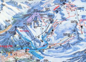 The Piste Map for the Saas Fee resort