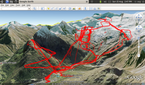 My GPS Tracks from Skiing in Saas Fee